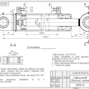 Гидроцилиндр ГЦ 100.50.1020.1420.50.7